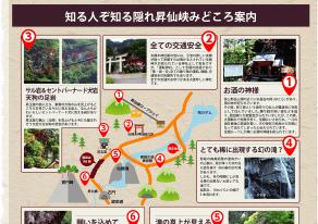 昇仙峡見どころマップ