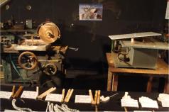 宝石研磨の街山梨で、<br /> 実際に使用された研磨機器